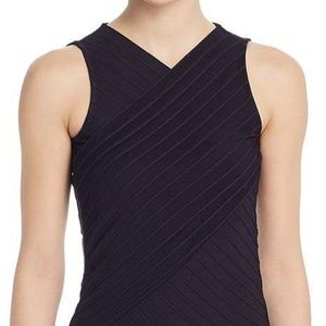 HUGO BOSS Ecasi Ribbed Crossover Top  NWT